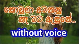 Koula Amathanu Na Mata Asune Karaoke (without voice) කොවුලා අමතනු නෑ මට ඇසුනේ