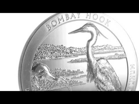 APMEX Silver Coins | 2015 5 oz Silver ATB Bombay Hook National Wildlife Refuge, DE