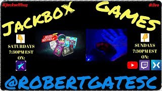 LIVE NOW (English): RobertGatesC Jackbox Games - Talk and Game