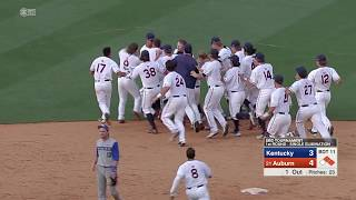 Auburn Baseball vs Kentucky SEC Tournament Round 1 Highlights