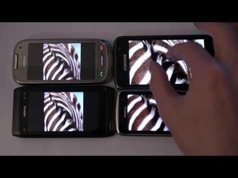 Comparaison Nokia N8, C7, C6-01 et Super AMOLED sur le Galaxy S