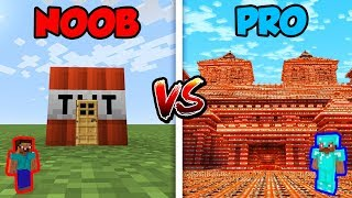 Minecraft NOOB vs. PRO: TNT HOUSE in Minecraft!