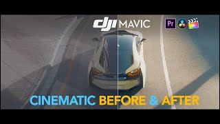 DJI Mavic Pro High Level Cinematic Grading Process Before And After