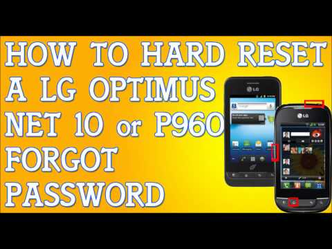 Forgot Password LG Optimus Net 10 P690 How To Hard Reset