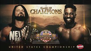 WWE Clash Of Champions 2019: AJ Styles vs. Cedric Alexander -Official Match Card