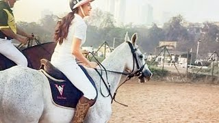 Jacqueline Fernandez spotted learning horse riding at Mahalaxmi race course - Bollywood News