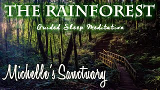 Rainforest Guided Sleep Meditation Coqui Frog Rain Thunder Sounds Inspired By Puerto Rico