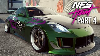 NEED FOR SPEED HEAT Gameplay Walkthrough Part 4 - UNLOCKING RACHEL'S NISSAN 350Z (Full Game)