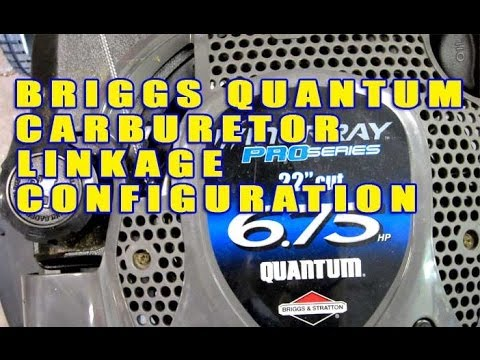 Briggs & Stratton Quantum Carburetor Linkage Configuration (No Throttle Cable)