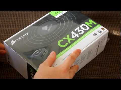 Corsair CX430M (Modular) 430 Watt Power Supply Unboxing and Installed
