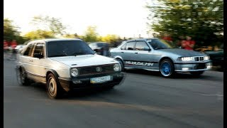 VW Golf 2 Turbo 400+HP (Koha-Motoring) VS BMW E36 Turbo (Rebuscar) 450+HP