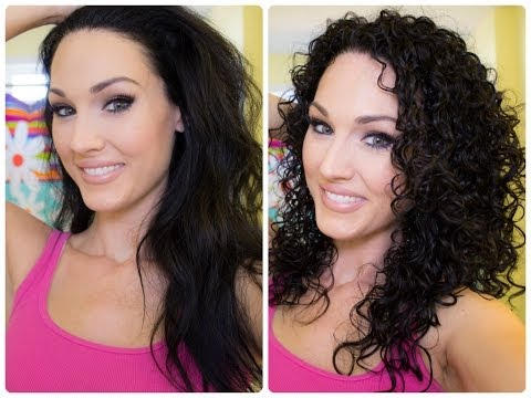 Natural Curly Hair Washing and Styling Tutorial