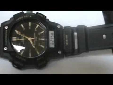 Rare Vintage Deal Mens Casio AQ150W-1EV Sport Chronograph Watch See Video!