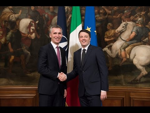 NATO Secretary General with Prime Minister of Italy, 26 FEB 2015