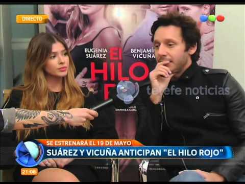 """""""La china"""" Suárez y Benjamín Vicuña a solas con Telefe Noticias"""