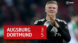Augsburg vs Dortmund (3-5) | Erling Braut Håland scores a hat-trick on his Dortmnd debut!