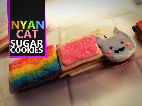 Nyan Cat Sugar Cookies - Quake N Bake