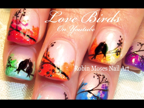 Love Bird Nail Art Rainbow video