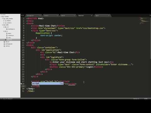 Building Apps with Node.js - Part 4: Sockets