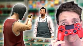CAN I ROB A STORE? BackWards Controller Challenge! (GTA 5 Challenge)