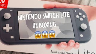 Nintendo Switch Lite Unboxing - Gray Version