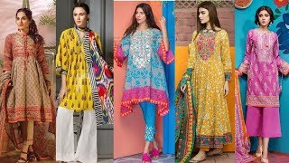 New Collection Designer Lawn Dresses 2018-19 / Branded Lawn Outfit For Eid 2018 || fashion designer