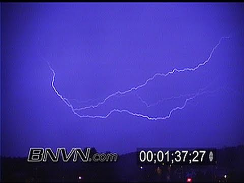 8/17/2001 Lightning Video during the overnight hours