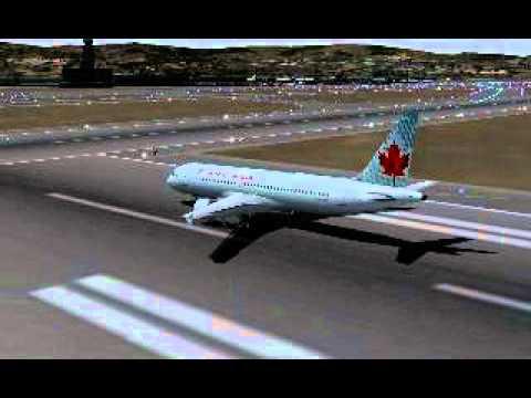 Air Canada A320 landing in SFO