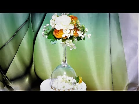 ЦВЕТОЧНЫЙ ТОПИАРИЙ НА БОКАЛЕ...FLOWER TOPIАRE ON THE GLASS