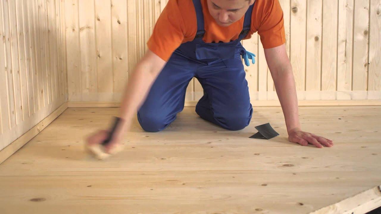 Покрытие деревянного пола лаком своими руками 47