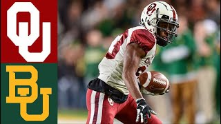 #10 Oklahoma vs #13 Baylor Highlights | NCAAF Week 12 | College Football Highlights