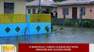 UB: 15 barangay sa Butuan City, lubog sa baha matapos umapaw ang Agusan River