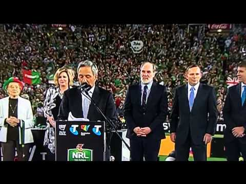 Tony Abbott booed at NRL grand final