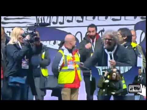 """Beppe Grillo – ROMA """"Tsunami Tour 22 feb 2013″ 3/4"""