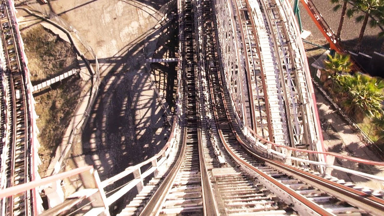 colossus pov closed 2014 wooden coaster at six flags