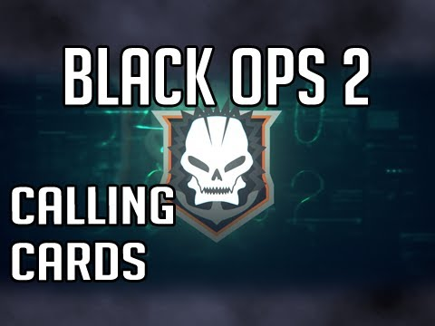 Phone Card Vine» Black Ops 2 – All Calling Cards (Title art) & gun