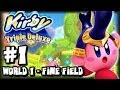 Kirby Triple Deluxe 3DS - (1080p) Part 1 - World 1 Fine Fields