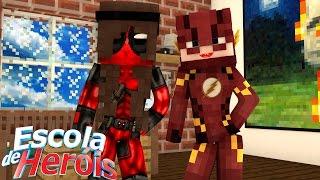 Minecraft: FLASH E DEADPOOL MULHER? #55 (ESCOLA DE HERÓIS)