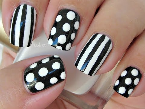 Nail Art - Dots and Stripes