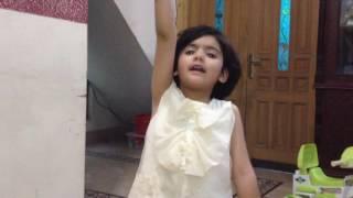 Cute baby sing a poem