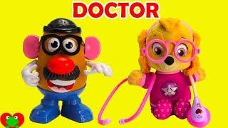 Paw Patrol Doctor Skye and Mr. Potato Head Learn Body Parts