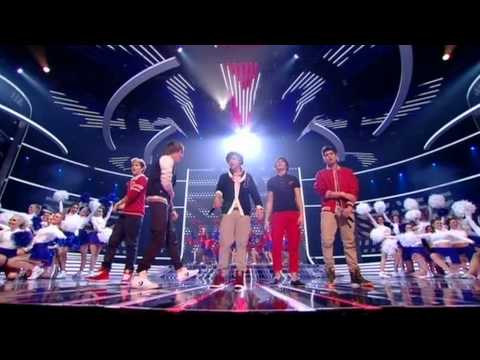 One Direction sing Kids in America - The X Factor Live show 5 (Full Version) Music Videos