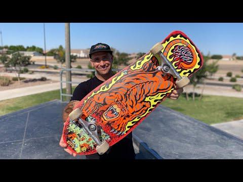 10.3 x 31.1 SALBA 'Tiger' REISSUE PRODUCT CHALLENGE w/ ANDREW CANNON! | Santa Cruz Skateboards