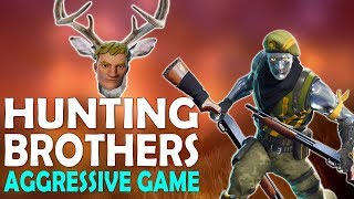 DAEQUAN AGGRESSIVELY HUNTING BROTHERS   HIGH KILL FUNNY GAME - (Fortnite Battle Royale)