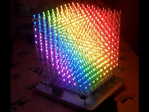 8x8x8 3d Rgb Led Cube Instructables How To Make Anything Akrossfo