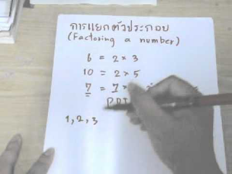 การแยกตัวประกอบ (Factoring number)