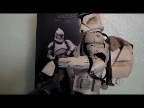 Star Wars Clone Trooper Deluxe Veteran 1/6 scale SideShow Toy Review