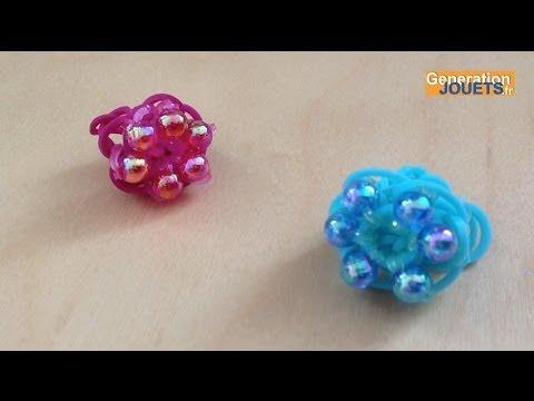 Créer une bague Starburst avec Rainbow Loom et des perles