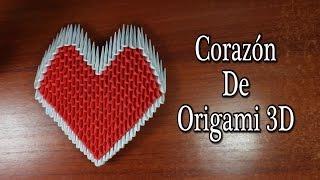 origami 3d corazon