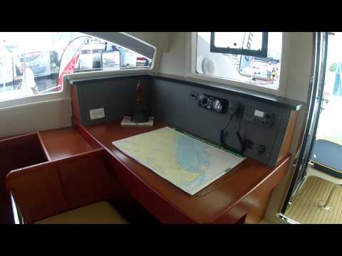 2012 Leopard 48 Catamaran toured at the Annapolis Sailboat Show by ABK Video